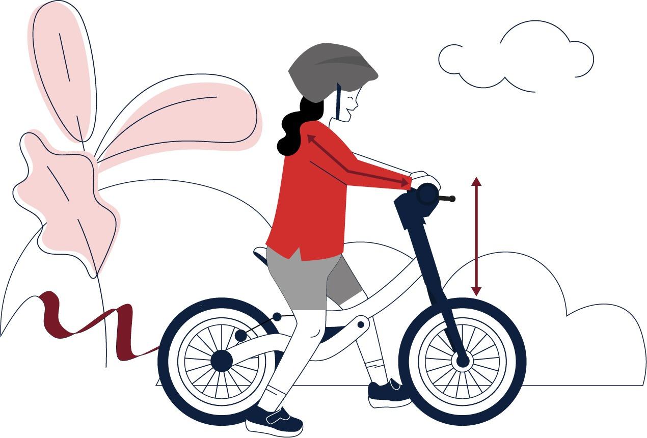 Laufrad Lenkerhöhe einstellen